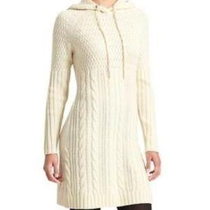 ATHLETA sz S Coldspell Sweater Dress Merino Hoodie